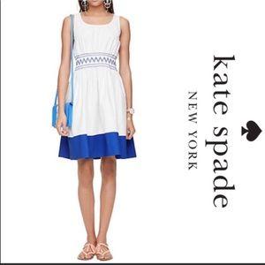 Kate spade NWT smocked poplin dress size small